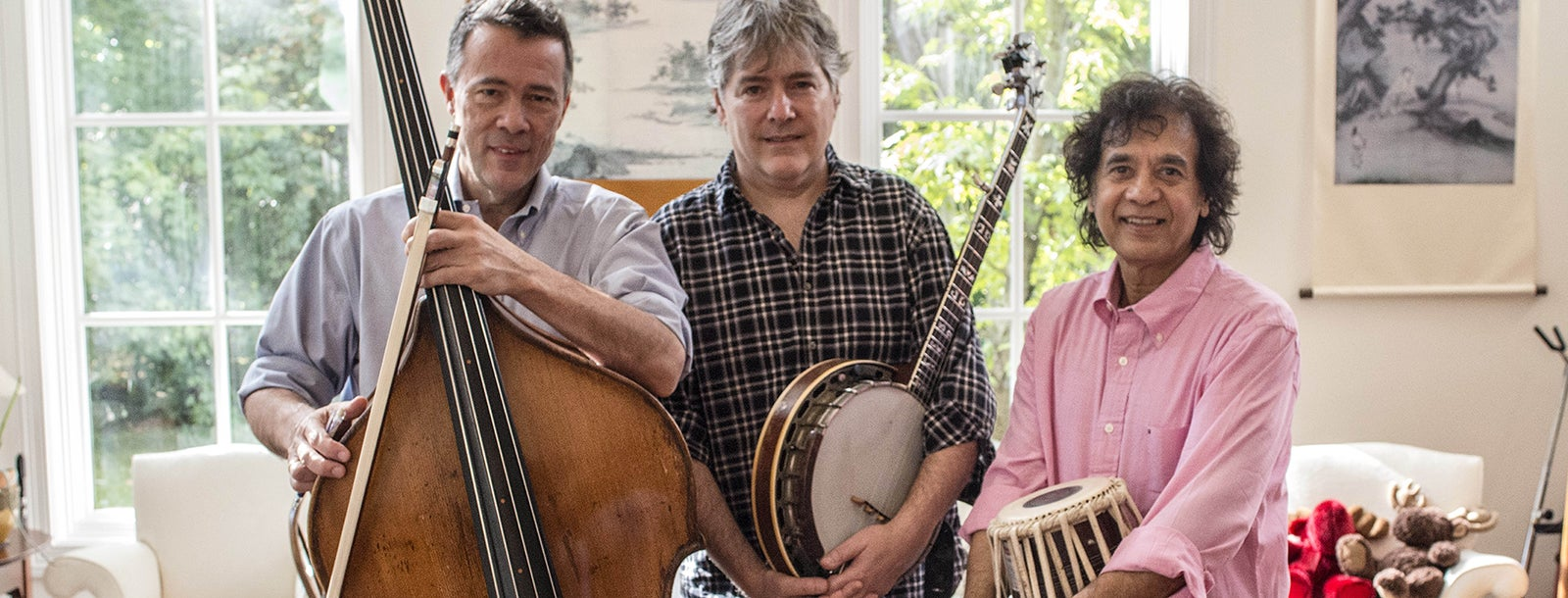 Béla Fleck, Zakir Hussain & Edgar Meyer with special guest Rakesh Chaurasia
