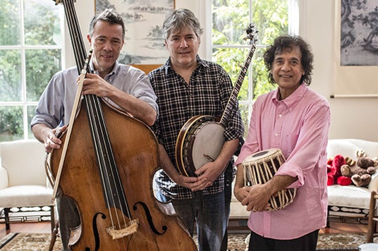 More Info for Béla Fleck, Zakir Hussain & Edgar Meyer with special guest Rakesh Chaurasia